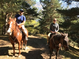 A slow, but very beautiful journey via horseback up to Gergeti Cathedral