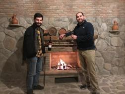 Paul and Beka at his Vellino wine cellar