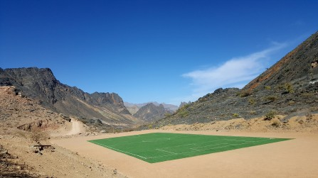 Have you ever seen a football pitch like this?! On the way to Bald Sayt village.