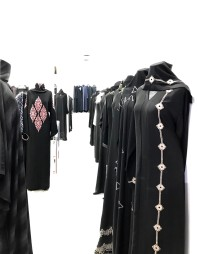 Abayas for sale in the Muttrah souk