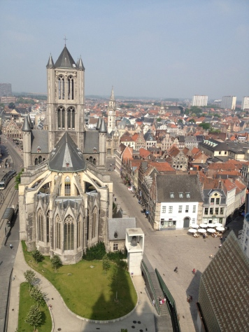 View from the Ghent (Belgium) Tower (2013(