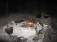 Indoor kitchen at hacienda